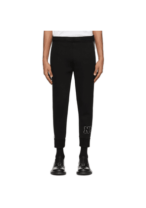 Neil Barrett Black Contrast Piping Lounge Pants