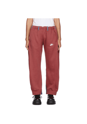 Bless SSENSE Exclusive Red and Blue Overjogging Jean Lounge Pants