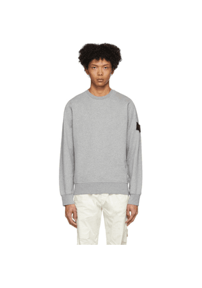 Stone Island Grey Garment-Dyed Sweater