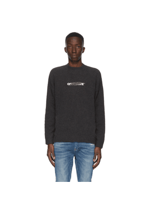Off-White Black Barrel Worker Sweater
