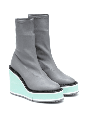 Bliss leather platform boots