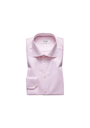 Eton Pink Signature Twill Shirt - Contemporary Fit