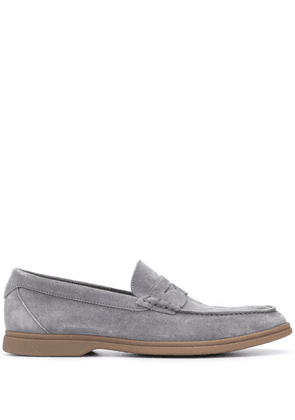 Brunello Cucinelli suede penny loafers - Grey