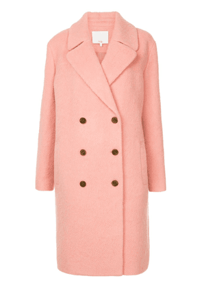 Tibi Luxe double breasted coat - PINK
