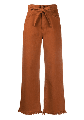 J Brand Sukey high-rise wide-leg jeans - Brown
