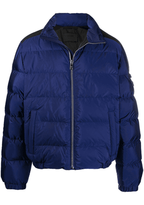 Prada recycled nylon padded jacket - Blue