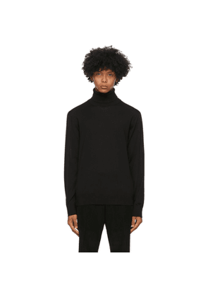 Z Zegna Black Wool Turtleneck