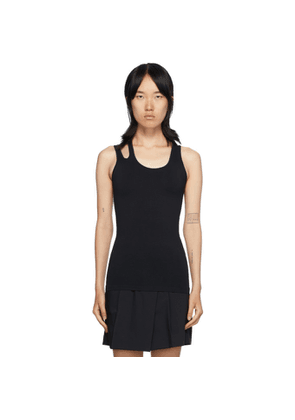 Helmut Lang Black Slashed Seamless Tank Top
