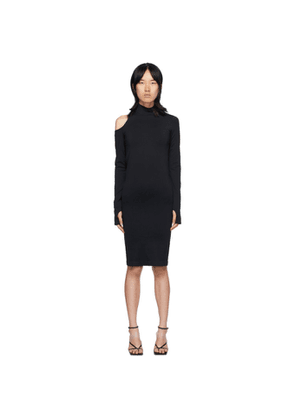 Helmut Lang Black Cutout Dress