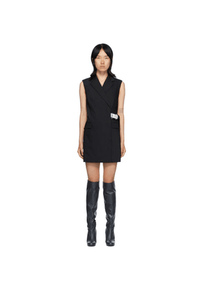 Helmut Lang Black Belted Vest Dress