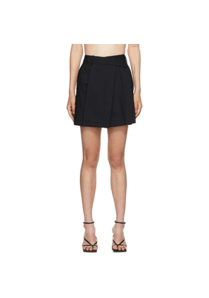 Helmut Lang Black Wrap Skirt