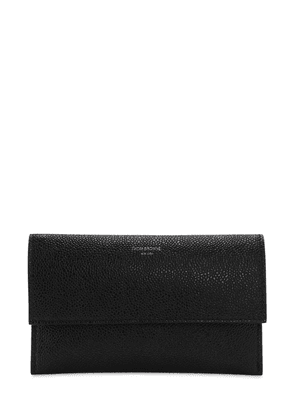 Mini Grained Leather Flap Wallet