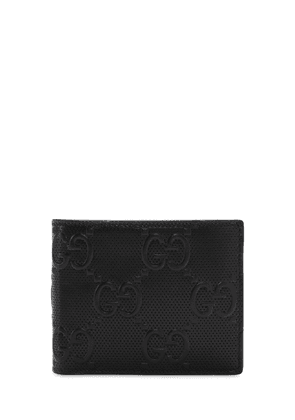 Gg Embossed Leather Wallet