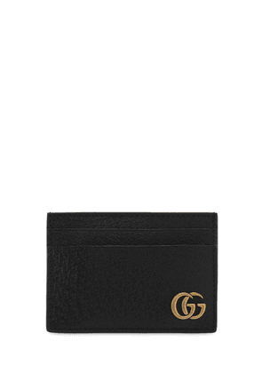Logo Leather Money Clip Card Holder
