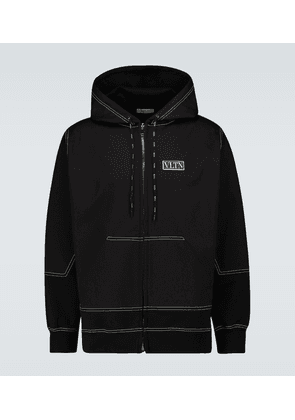 Contrast stitched hooded sweatshirt