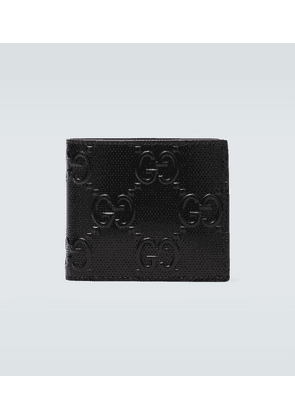 Embossed GG leather wallet