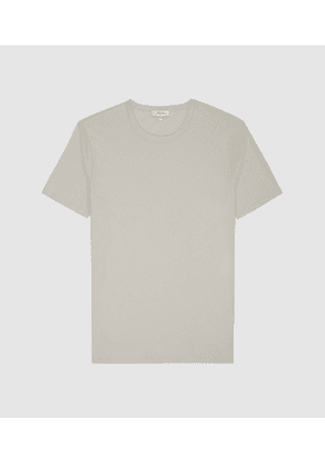 Reiss Melrose - Pigment Dyed T-shirt in Ecru, Mens, Size L