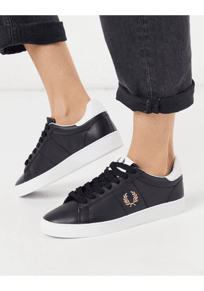 Fred Perry Spencer leather trainers-White