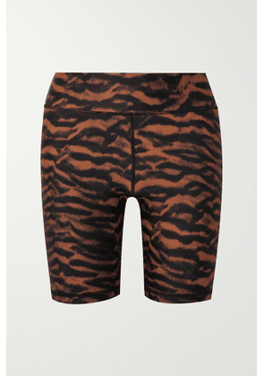 The Upside - Tiger-print Stretch Shorts - Orange