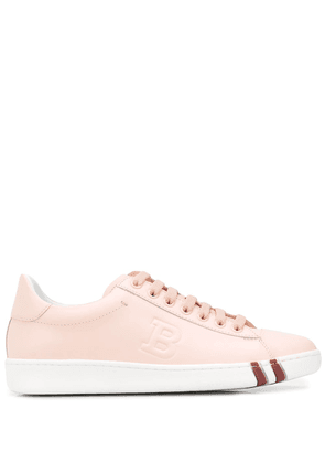 Bally embossed logo lace-up sneakers - PINK