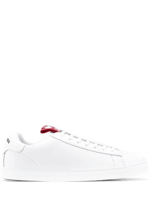 Dsquared2 logo-tab low-top sneakers - White