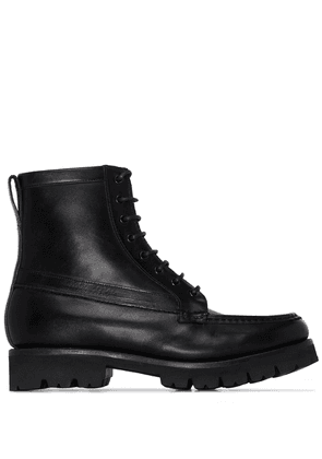 Grenson Harper lace-up leather ankle boots - Black