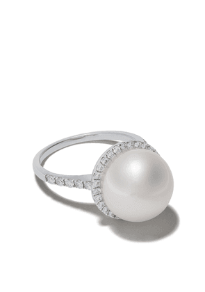 Yoko London 18kt white gold Classic south sea pearls and diamond ring