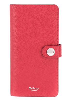 Mulberry grained-effect Huawei P20 flip case - Red