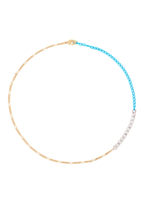 Disco 18k gold plated brass chain necklace