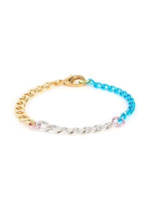 Disco 18k gold plated brass chain bracelet
