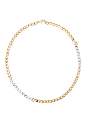 Disco 18k gold plated chain necklace
