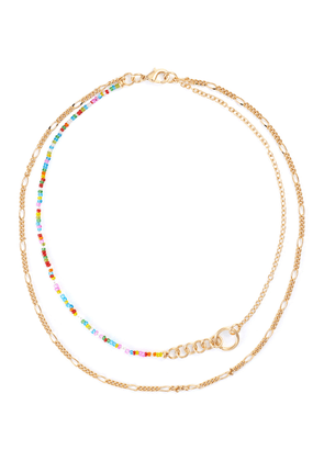 Friendship crystal 18k gold plated necklace