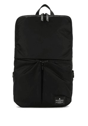 Makavelic large logo-patch BBC backpack - Black