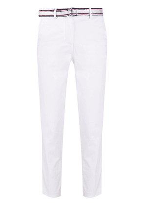 Tommy Hilfiger belted slim-fit trousers - White