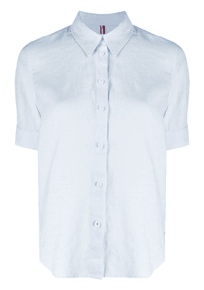 Tommy Hilfiger plain linen shirt - Blue