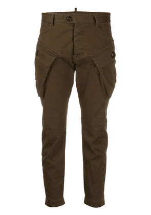 Dsquared2 slim-fit cargo trousers - Green