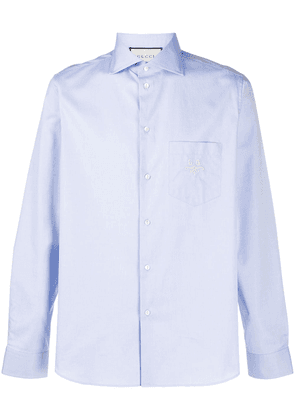 Gucci GG embroidered shirt - Blue