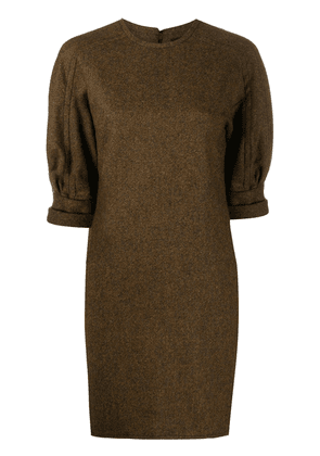 Dsquared2 puff-sleeved mini shift dress - Brown
