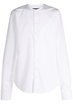 Dsquared2 collarless long-sleeve shirt - White