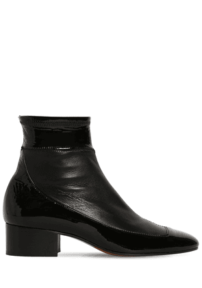 40mm Stretch Leather Ankle Boots