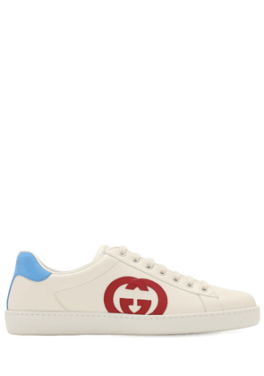 New Ace Interlocking Gg Leather Sneakers