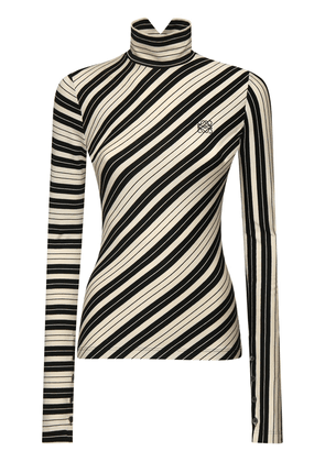Striped Stretch Cotton Jersey Top