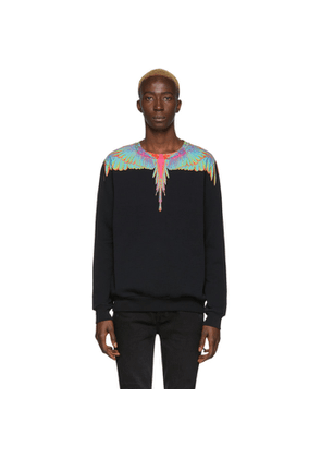 Marcelo Burlon County of Milan Black Fluo Wings Sweatshirt