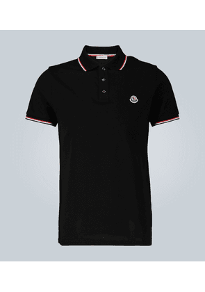 Contrast trimmed cotton polo shirt