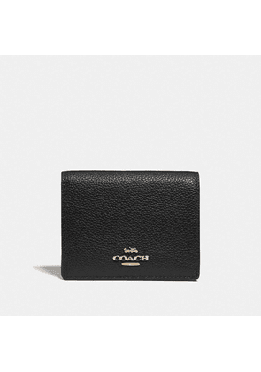 Small Snap Wallet in Black