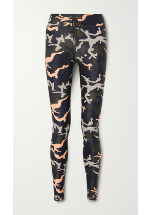 The Upside - Nyc Camouflage-print Stretch Leggings - Army green