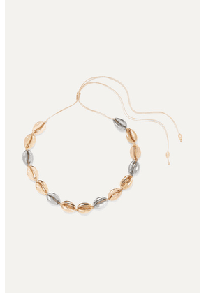Tohum - Large Puka Yellow And Rose Gold And Silver-plated Necklace - one size