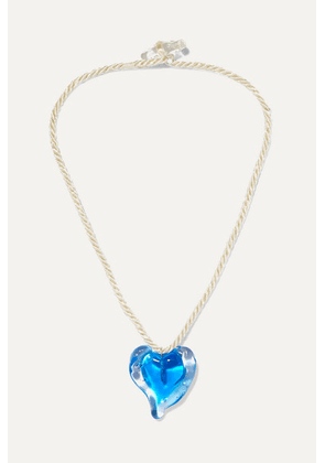 Maryam Nassir Zadeh - Heart Glass And Cord Necklace - Blue