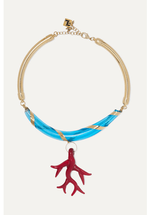 Rosantica - Bolle Gold-tone Glass Necklace - one size