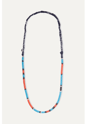 Mikia - Glass And Cotton-voile Necklace - Red